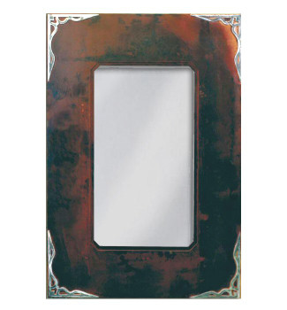 "36"" Burnished Corner Metal Wall Mirror"