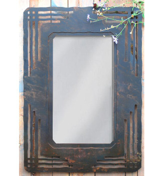 "36"" Mission Design Metal Wall Mirror"