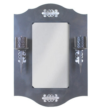 "36"" Candelabra Metal Wall Mirror"