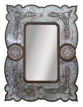 "33"" Celtic Metal Wall Mirror"