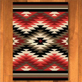 3' x 4' Starburst Original Southwest Rectangle Scatter Rug