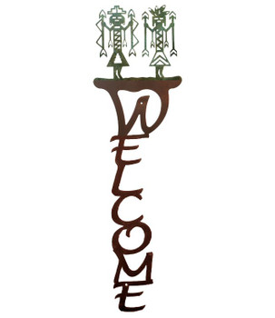 Yei Vertical Metal Welcome Sign
