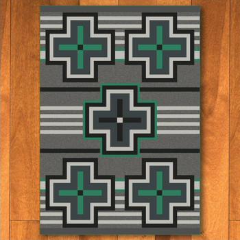 3' x 4' Bounty Jade Southwest Rectangle Scatter Rug
