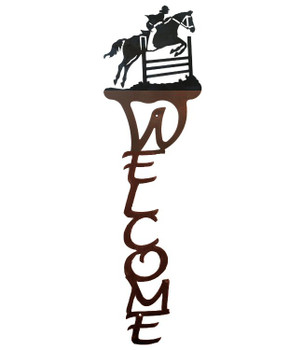 Equestrian Show Jumping Vertical Metal Welcome Sign