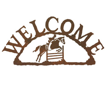 Equestrian Show Jumping Metal Welcome Sign