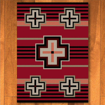3' x 4' Bounty Red Southwest Rectangle Scatter Rug