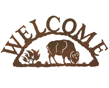 Buffalo Metal Welcome Sign