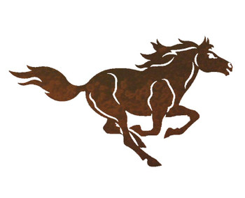 "20"" Running Horse Metal Wall Art"