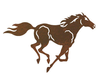 "20"" Running Wild Horse Metal Wall Art"