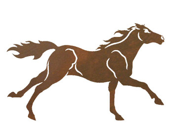 "21"" Galloping Horse Metal Wall Art"