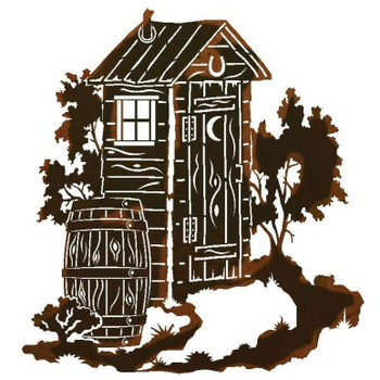 """30"""" Outhouse Metal Wall Art"""