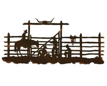 "57"" Cowboy Corral Metal Wall Art"