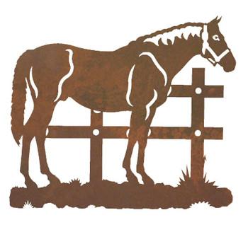 """20"""" Standing Horse Metal Wall Art"""