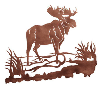 "30"" Moose Metal Wall Art"