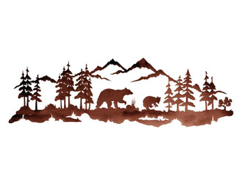 "42"" Bear Family Metal Wall Art"