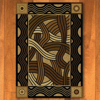 3' x 4' Hand Coiled Natural Cherokee Inspired Rectangle Scatter Rug