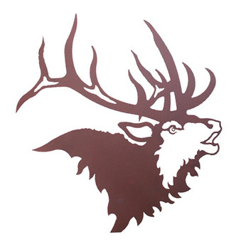 "28"" Elk Head Metal Wall Art"