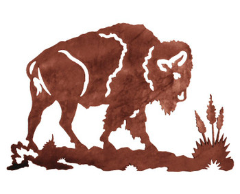 "30"" Buffalo Metal Wall Art"