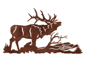 "30"" Elk Metal Wall Art"