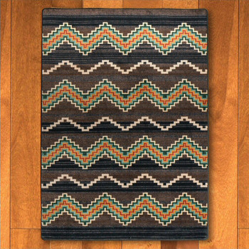 3' x 4' Trapper Brown Southwest Rectangle Scatter Rug