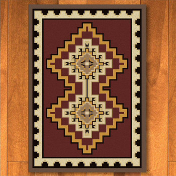 3' x 4' Council Fire Red Southwest Rectangle Scatter Rug