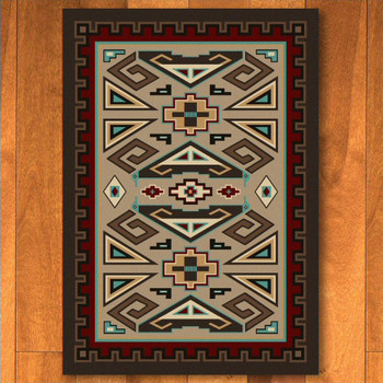 3' x 4' Butte Southwest Rectangle Scatter Rug