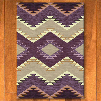 3' x 4' Plum Heritage Raspberry Southwest Rectangle Scatter Rug