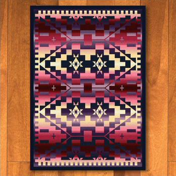 3' x 4' Rainbow Blanket Sunset Southwest Rectangle Scatter Rug