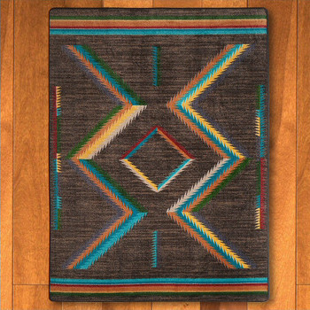 3' x 4' Hour Glass Bright Southwest Rectangle Scatter Rug