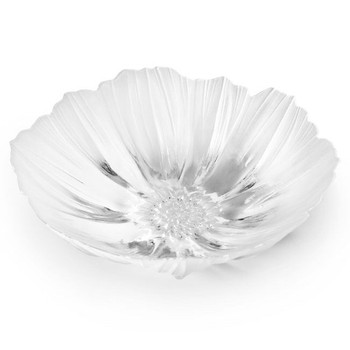 Extra Large Anemone Clear Crystal Bowl by Mats Jonasson