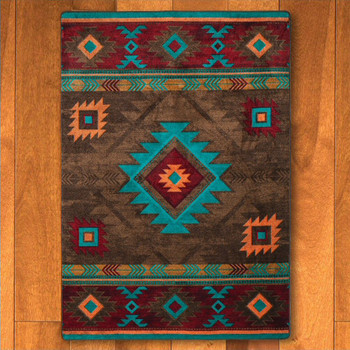 3' x 4' Whisky River Turquoise Southwest Rectangle Scatter Rug