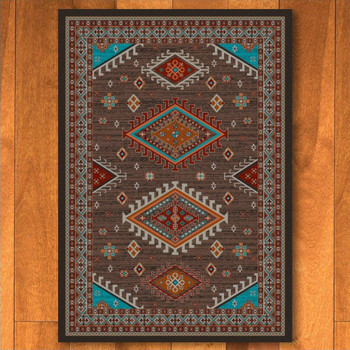 3' x 4' Persian Southwest Brown Rectangle Scatter Rug