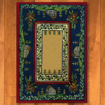3' x 4' Cabin In The Pines Clearing Nature Rectangle Scatter Rug