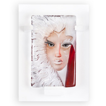 Limited Edition Isolde Red & Clear Crystal Sculpture by Mats Jonasson
