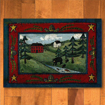 3' x 4' Black Bear Creek Wildlife Rectangle Scatter Rug