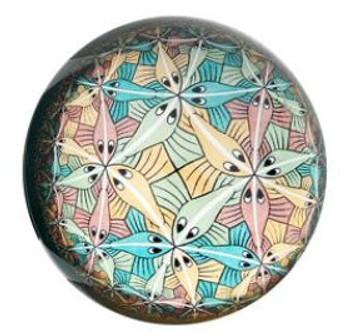 Circle Limit III Glass Paperweight by M.C. Escher
