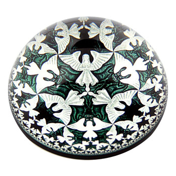 Angels and Devils Interlocking Tessellation Paperweight by M.C. Escher