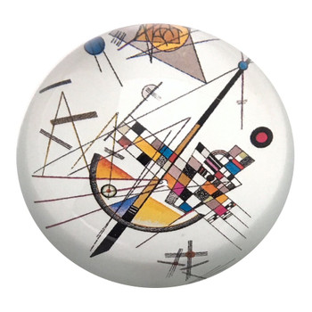 Mild Tension Abstract Modern Glass Paperweight by Kandinsky