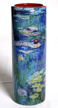 Monet Waterlilies Flower Ceramic Vase