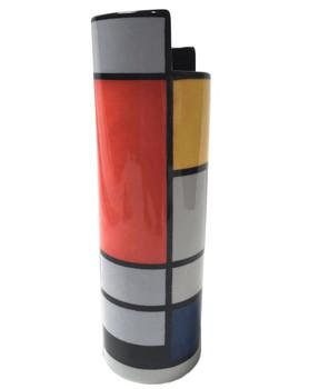 Mondrian Modern Art Ceramic Vase by Mondrian