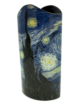 Starry Night Blue Museum Art Ceramic Vase by Van Gogh