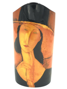 Modigliani Jeanne Hebuterne Ceramic Vase by Amedeo Modigliani