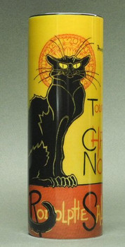 Le Chat Noir Cat Black Cat Ceramic Vase by Steinlen