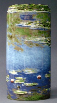 Water Lilies Flowers Ceramic Vase by Monet