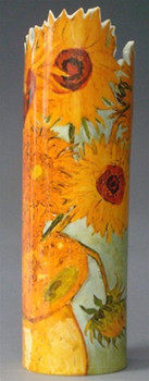 Sunflowers Ceramic Vase by Van Gogh