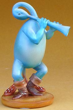 Blue Flutist Statue by Hieronymus Bosch
