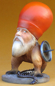 Freak with Beard Statue by Hieronymus Bosch