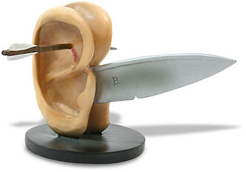 Ears with Knife Statue by Hieronymus Bosch