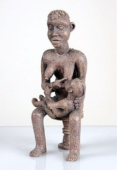 African Bangwa Anyi Mother of Twins African Statue
