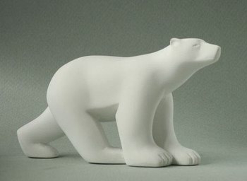 Miniature Polar Bear Statue by Francois Pompon